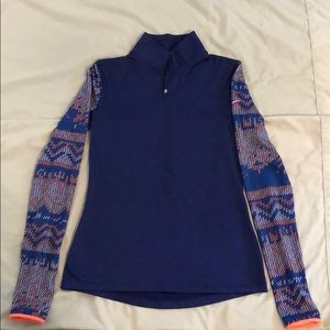 Thermal Nike zip up athletic sweater shirt